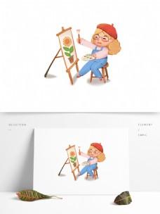 可爱小学生卡通形象