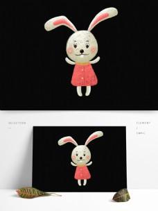 线圈印象可爱小兔子手绘设计