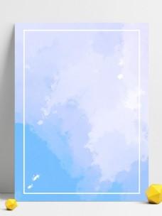 蓝色水彩渐变背景图