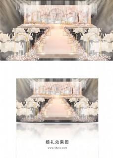 香槟粉色简约现代婚礼