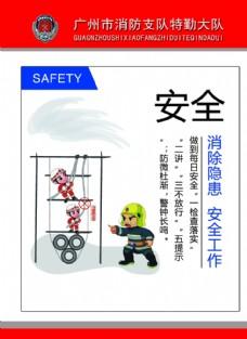 消防安全教育展板