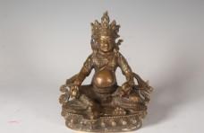 藏佛财宝天王铜坐像