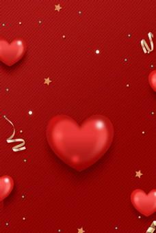 红色婚博会婚礼婚庆背景