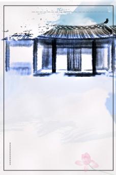 古典中国风房产背景