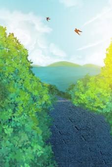 绿色植物环境背景
