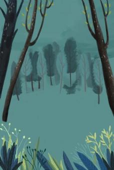 春天森林背景下载