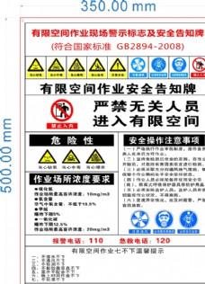 有限空间作业现场警示标志及安全