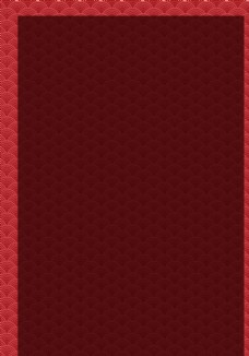 红色中国风波浪底纹图案