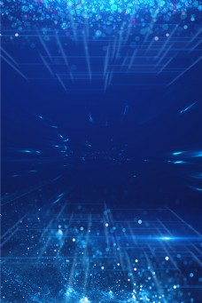 蓝色科技简约电子线条光效背景