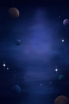 深蓝色天空梦幻背景