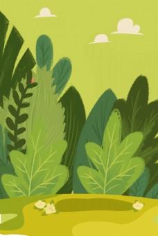 绿色的植物背景免抠图