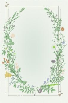 婚博会唯美花朵结婚树枝清新爱