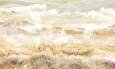 江山多娇大理石纹山水电视背景墙