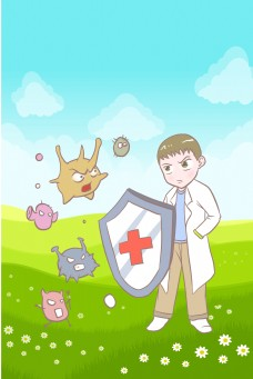 春季医疗抵抗病菌背景