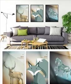 麋鹿装饰画