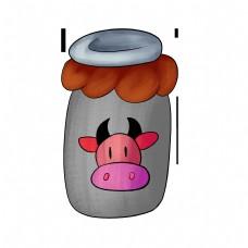 饮料牛奶插画手绘