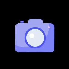 淡蓝色相机样式网页设计