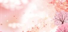 樱花展板背景