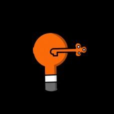 橘黄色灯泡网页设计