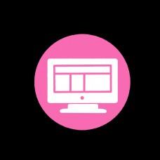 粉色电脑简约设计