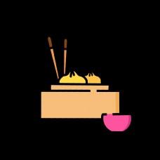 早餐蒸笼包子碗筷设计