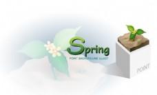 春天spring绿芽