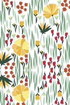 春天小清新花朵底纹