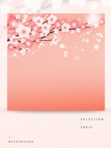 纯原创卡通粉色梦幻樱花主图背景