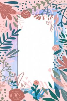 母亲节花卉植物花框边框背景