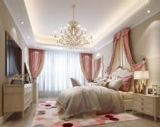 公主房卧室效果图3D模型