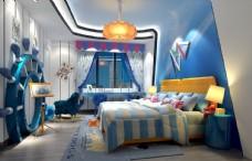地中海儿童房效果图3D模型
