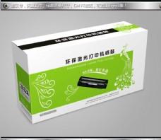 绿色带孔雀花纹硒鼓彩盒