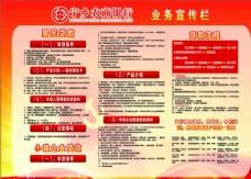 农商银行业务宣传栏