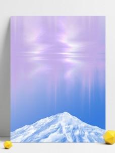 雪山极光背景素材