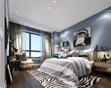 男孩房卧室效果图3D模型