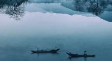 渔船水乡中国风乡村