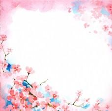 水彩碎花海报