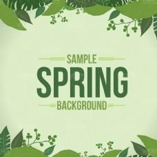 spring 春天背景素材绿叶