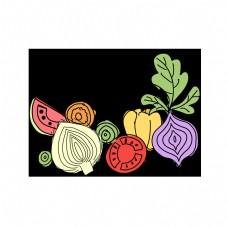 简笔画简单蔬菜插画