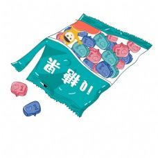 绿色糖果png素材