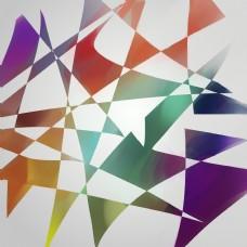 彩色玻璃质感纸张纹理