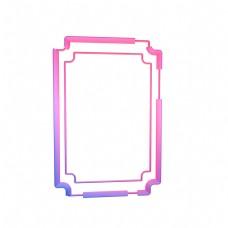 长方形几何炫彩边框