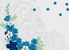 手绘深蓝小花