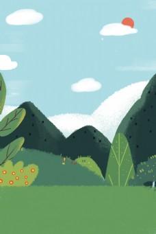 绿色春天背景下载