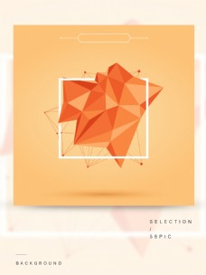 红色抽象渐变几何体边框通用主题背景