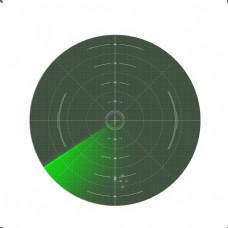 指南针雷达时钟表盘仪器
