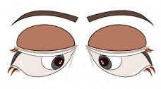 卡通动漫风格眼睛五官