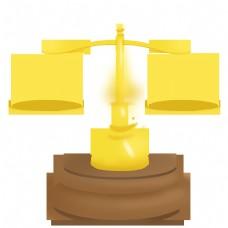 法律卡通手绘法律天平秤免抠PNG素材