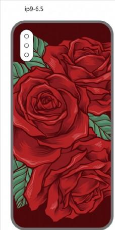 创意手机壳 水彩花纹 彩绘图案