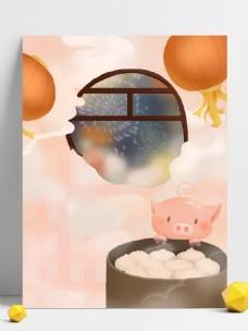 喜庆2019猪年小猪背景